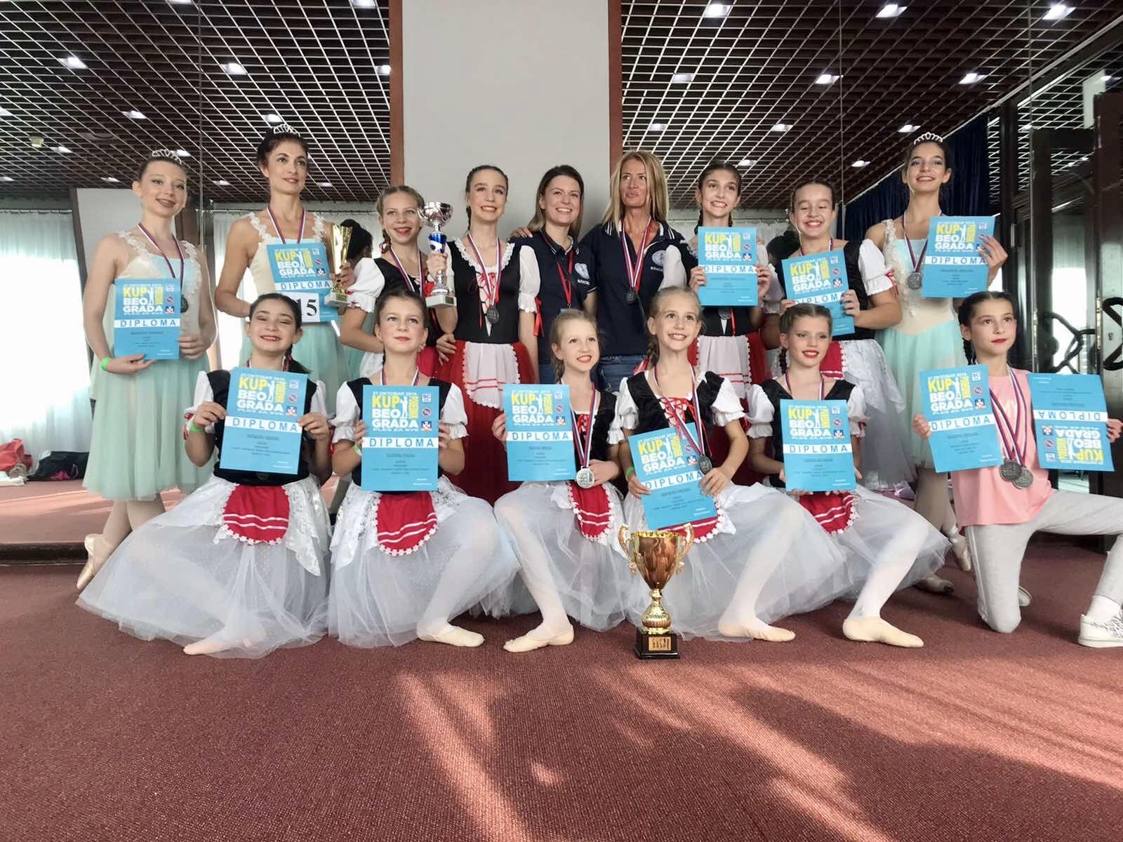 Призове от Сърбия 2019 на възпитаничките на балетна школа КЛАСИК -М